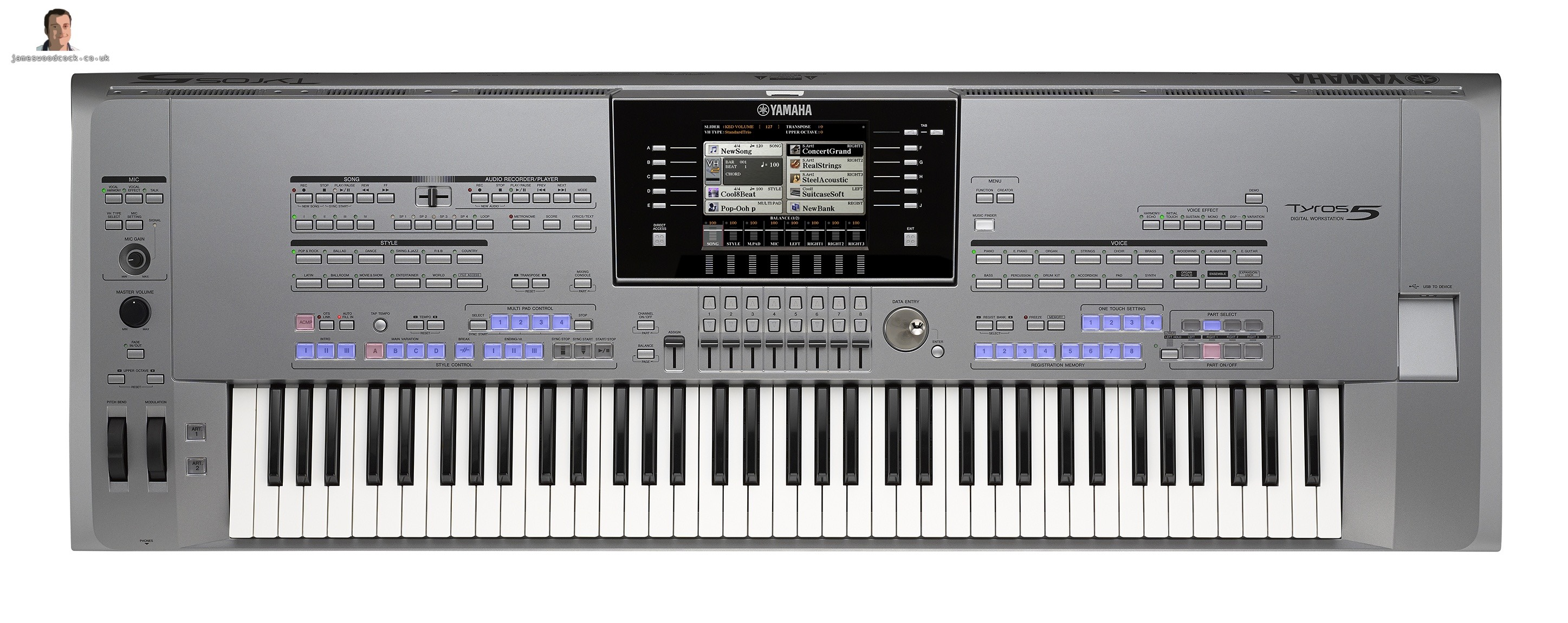 yamaha tyros 5 keyboard main demonstration images