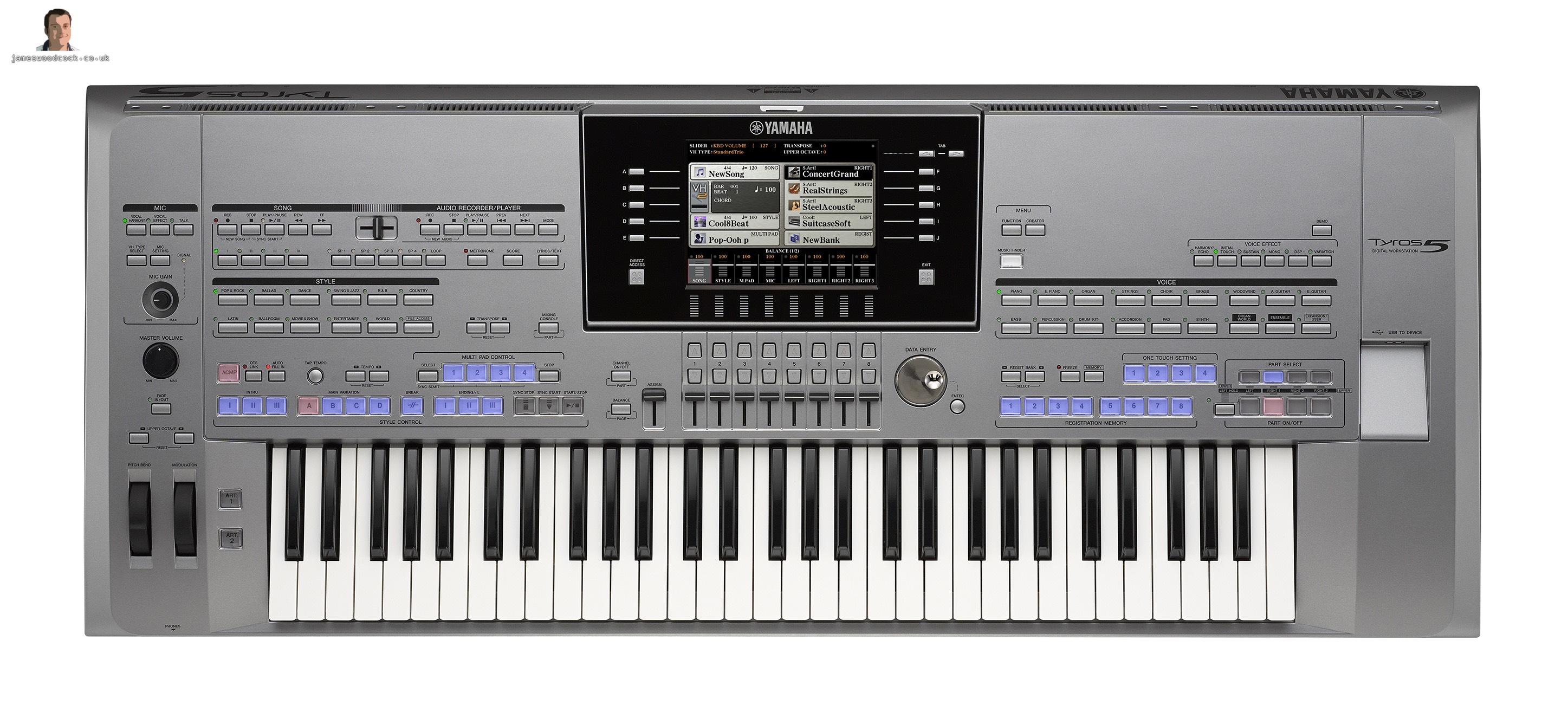 Yamaha tyros 5 keyboard main demonstration images for Yamaha tyros 5