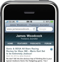 James Woodcock's Blog in iPhone and iPod Touch