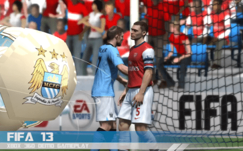 FIFA 13 Xbox 360 Gameplay – Manchester City Vs Arsenal [VIDEO]