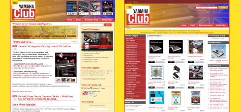 New design for the Yamaha Club website by James Woodcock