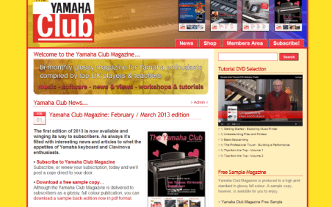 Yamaha Club Website Theme and Feature Updates – Wider Look, New Graphics & More…