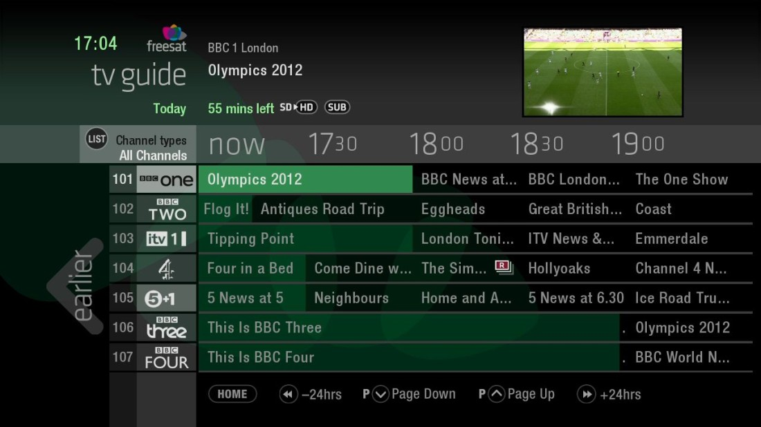 TV Guide (EPG) in full