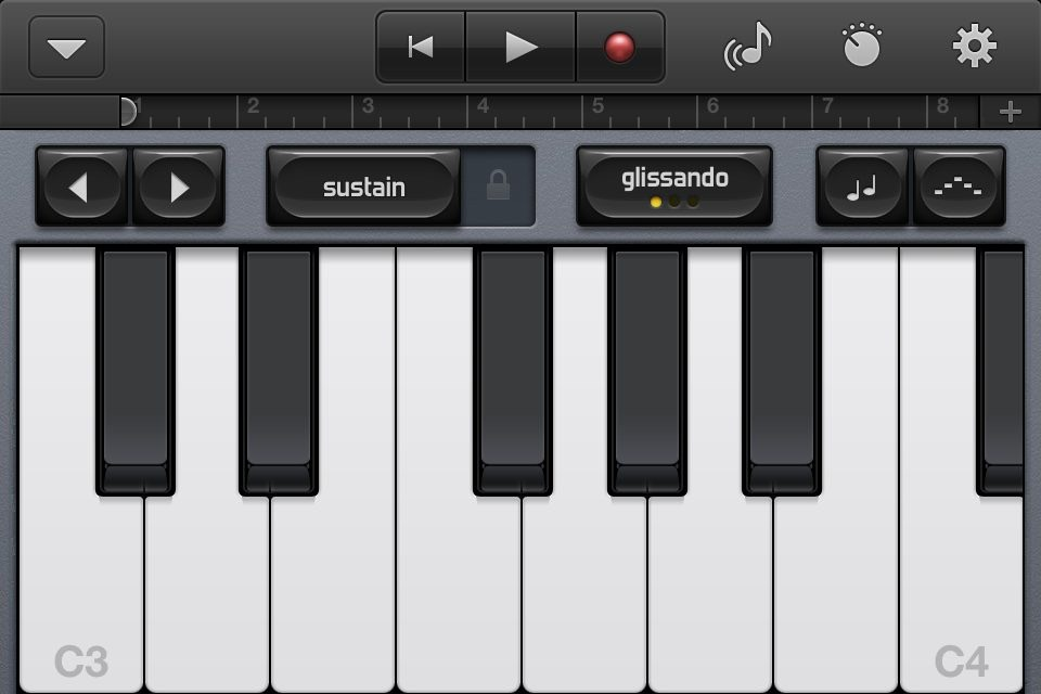 GarageBand on iPhone