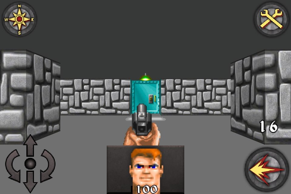 Wolfenstein 3D on iPhone with virtual button controls