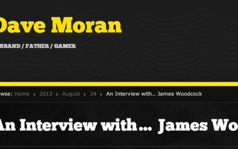 An Interview with… James Woodcock – Gaming Q&A by Dave Moran